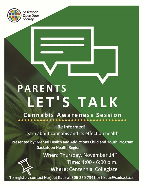 Parents Talk Cannabis Awareness Session