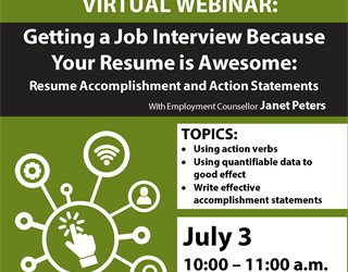 Webinar: Getting a Job Interview Because Your Resume is Awesome