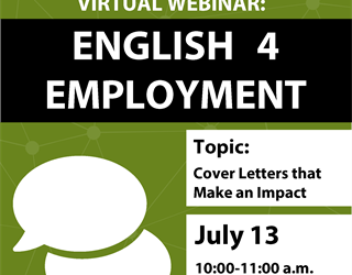 English 4 Employment: Cover Letters That Make an Impact