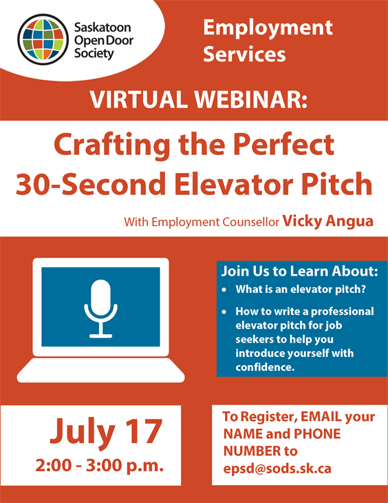 Webinar: Crafting the Perfect 30-Second Elevator Pitch