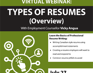 Webinar: Types of Resumes (Overview)