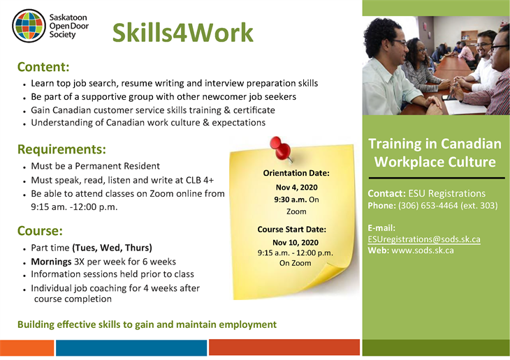 Skills-4-Work: Training in Canadian Workplace Culture