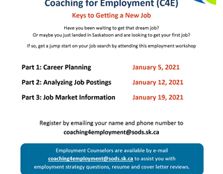 Coaching for Employment (C4E) Analyzing Job Postings Workshop
