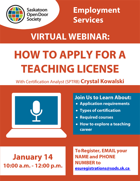 Webinar: How to Apply for a Teaching Licence