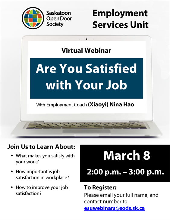 Webinar: Are You Satisfied With Your Job?