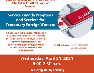 Support for Temporary Foreign Workers: Service Canada Programs and Services for Temporary Foreign Workers