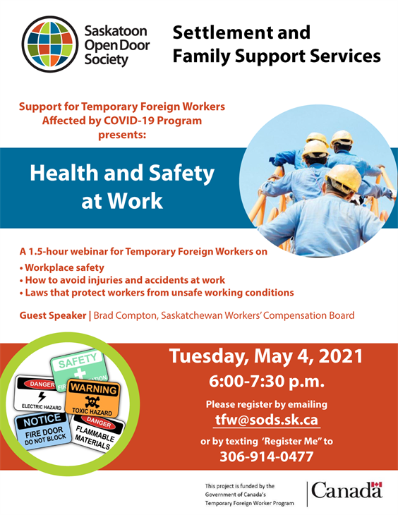 Support for Temporary Foreign Workers: Health and Safety at Work